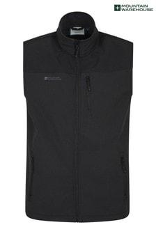Mountain Warehouse Black Grasmere Mens Water Resistant, Fleece Lined Gilet