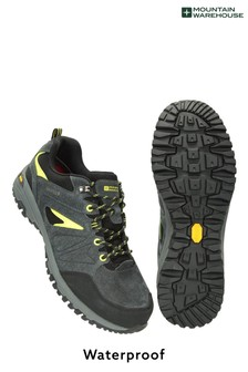 Mountain Warehouse Black/Grey Thunder Extreme Mens Waterproof Vibram Hiking Shoes