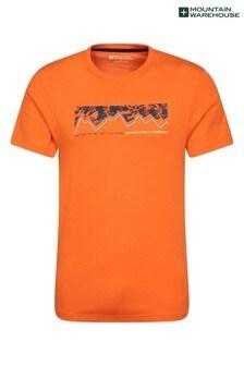 Mountain Warehouse Orange Mens Lightweight Printed T-Shirt