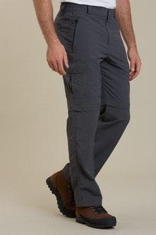 Mountain Warehouse Grey Explore Convertible Mens Walking Trousers