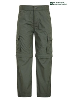 Mountain Warehouse Green Mountain Warehouse Active Kids Convertible Trousers