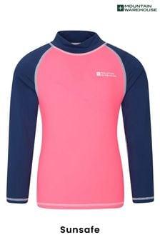 Mountain Warehouse Pink Kids Long Sleeved Rash Vest