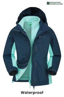Mountain Warehouse Mid Blue Lightning 3 In 1 Kids Waterproof Jacket