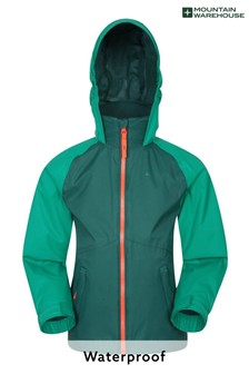 Mountain Warehouse Khaki Torrent II Kids Waterproof Outdoor Jacket