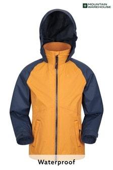 Mountain Warehouse Yellow Torrent II Kids Waterproof Outdoor Jacket