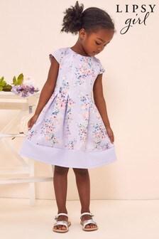 Lipsy Lilac Floral Mini Scuba Dress