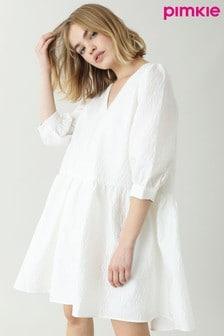 Pimkie White Textured Smock Dress