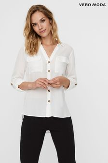 Vero Moda White Long Sleeve Shirt