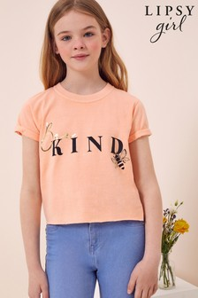 Lipsy Coral Blue Foil Print T-Shirt