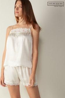 Intimissimi Cream Feeling Romantic Silk Top