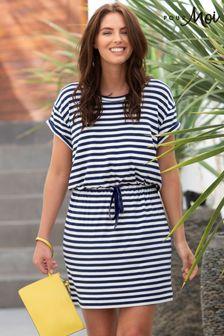 Pour Moi Blue Jersey T-Shirt Dress