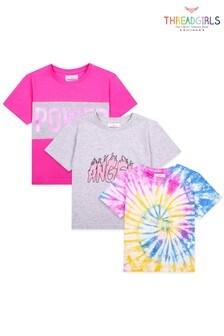 Threadgirls Pink 3 Pack Assorted T Shirts