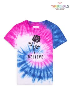 Threadgirls Blue Believe Tie Dye T-Shirt