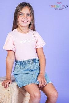 Threadgirls Pink Pretty Puff Sleeve T-Shirt