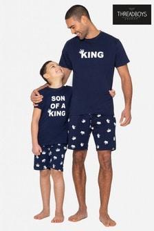 Threadboys Navy King Cotton Pyjama Set