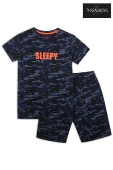 Threadboys Blue Cooper Cotton Pyjama Set