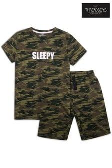 Threadboys khaki Cooper Cotton Pyjama Set