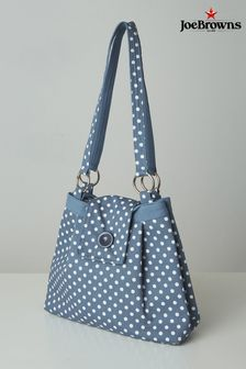 Joe Browns Blue Sweet Vintage Polka Dot Bag