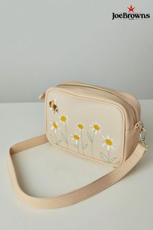 Joe Browns Cream Bee And Daisy Embroidered Bag