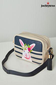 Joe Browns blue Cute Pink Rabbit Bag