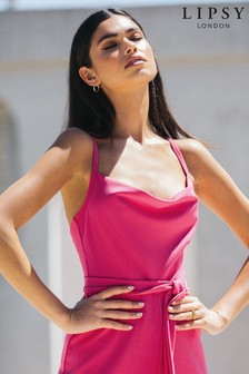 Lipsy Pink Cowl Neck Jumpsuit