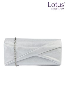 Lotus Footwear ICE Ice Shimmer Textile Clutch Bag