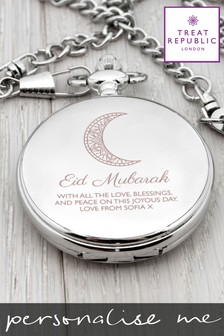 Personalised Eid Murbarak Dual Pocket Watch By Treat republic