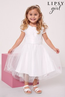 Lipsy Ivory Lace Cap Sleeve Occasion Dress
