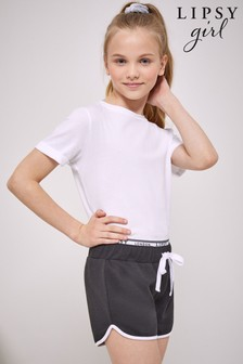Lipsy Black Logo Waistband Shorts