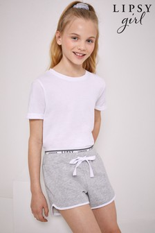 Lipsy Grey Logo Waistband Shorts