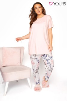 Yours Pink Spring Floral Lounge Set