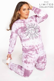 Yours Limited White Le Soleil Tie Dye Sweat