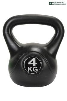 Mountain Warehouse Black Home Gym 4kg Fitness Kettlebell