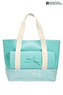 Mountain Warehouse Blue Beach Bag Mat & Pillow