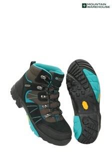Mountain Warehouse Teal Edinburgh Vibram Youth Waterproof Walking Boots