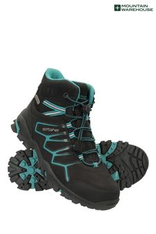 Mountain Warehouse Teal Softshell Kids Walking Boots