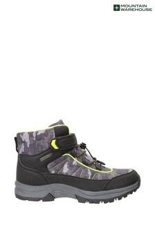 Mountain Warehouse Green Camo Kids Lined Waterproof Walking Boots