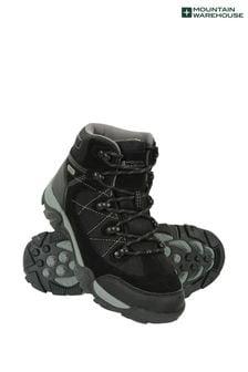 Mountain Warehouse Black Trail Waterproof Kids Boots
