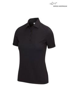 Greg Norman Black ML75 2Below Ladies Polo Shirt