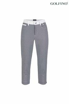 Golfino Optic White Print Capri Ladies Trousers