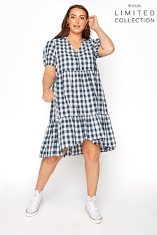 Yours Limited Blue Check  Dress