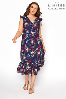 Yours Limited Blue Maxi Dress Floral