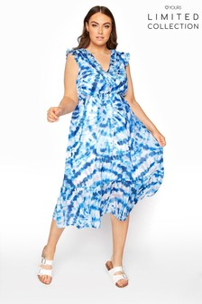 Yours Limited Blue Maxi Dress Tie Dye