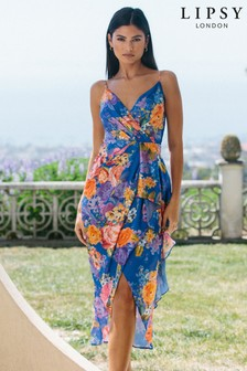 Lipsy Multi Wrap Ruffle Midi Dress