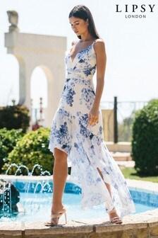 Lipsy White Floral Print Maxi Dress