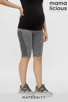 Mamalicious Medium Grey Melange Maternity Seamless Gym Leggings
