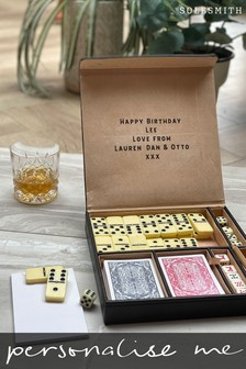 Personalised Monogrammed Dice Gift Set by Solesmith