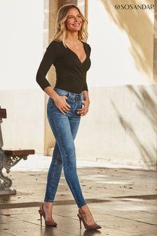 Sosandar mid blue Regular Perfect Skinny Jeans