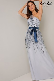 Chi Chi London Blue Loretta Dress