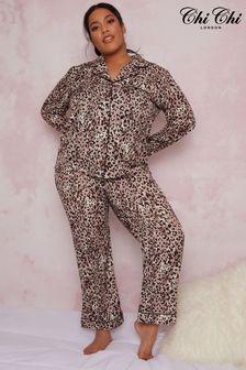 Chi Chi London Print Curve Deana Pyjama Set